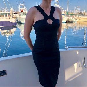 Tufi Duek Black Bodycon Mini Dress size XS